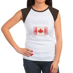 - Canadia Women's Cap Sleeve T-Shirt