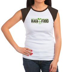 RawFood_DARK_Background Women's Cap Sleeve T-Shirt