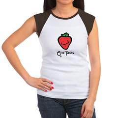 Give Tanks - Women's - Fresh Strawberry Women's Cap Sleeve T-Shirt