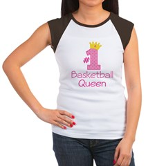 Number One Basketball Queen Women's Cap Sleeve T-Shirt