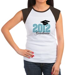 2012 graduate color aqua Women's Cap Sleeve T-Shirt