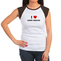 I LOVE NORTH CAROLINA Women's Cap Sleeve T-Shirt