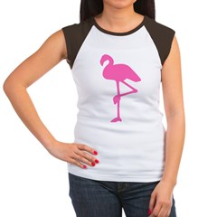 Hot Pink Flamingo Women's Cap Sleeve T-Shirt