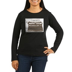 Typewriter Women's Long Sleeve Dark T-Shirt