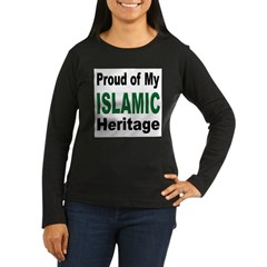 Proud Islamic Heritage Women's Long Sleeve Dark T-Shirt