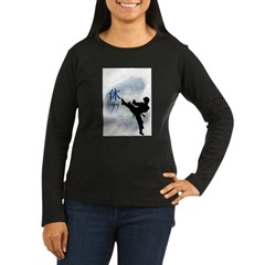Power Kick 2 Women's Long Sleeve Dark T-Shirt