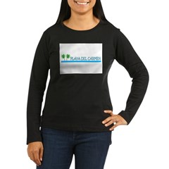 playadelcarmenwater.jpg Women's Long Sleeve Dark T-Shirt