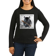 Chin Raisin Women's Long Sleeve Dark T-Shirt