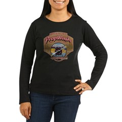 PW Brewing Co. Radial Red Women's Long Sleeve Dark T-Shirt