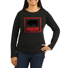 Lechon Women's Long Sleeve Dark T-Shirt