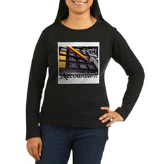 ACCOUNTAN Women's Long Sleeve Dark T-Shirt