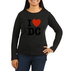 I Love DC Women's Long Sleeve Dark T-Shirt