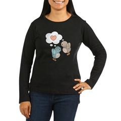 Love Birds Women's Long Sleeve Dark T-Shirt