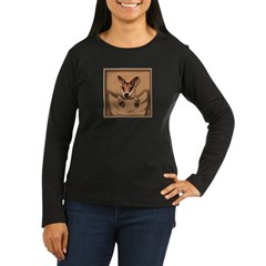 joey roo unlettered.jpg Women's Long Sleeve Dark T-Shirt
