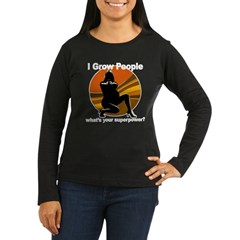 superpower-blk Women's Long Sleeve Dark T-Shirt