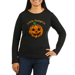 Little Pumpkin Women's Long Sleeve Dark T-Shirt