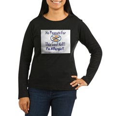 No Peanuts For This Cool Kid Women's Long Sleeve Dark T-Shirt