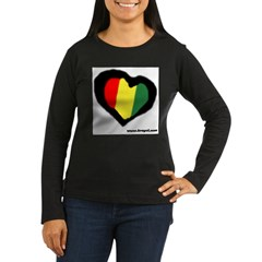 Rasta Hear Women's Long Sleeve Dark T-Shirt