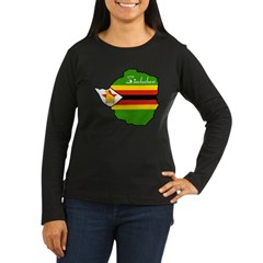 Cool Zimbabwe Women's Long Sleeve Dark T-Shirt