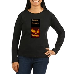 """Pumpkin Smuggler"" Women's Long Sleeve Dark T-Shirt"