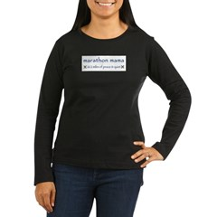 Marathon Mama Logo Women's Long Sleeve Dark T-Shirt