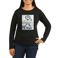 Medical Lab Tech Women's Long Sleeve Dark T-Shirt