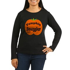 Pumpkin Smuggler Women's Long Sleeve Dark T-Shirt