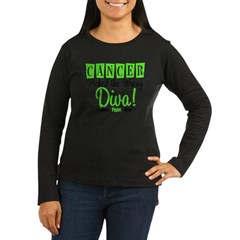 CancerWrongDiva Women's Long Sleeve Dark T-Shirt