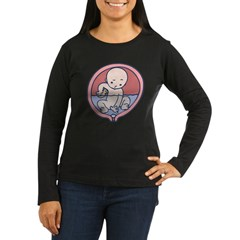 Water Breaker Women's Long Sleeve Dark T-Shirt