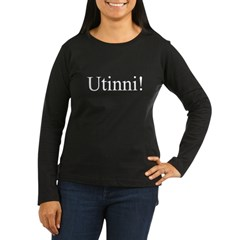 Utinni! white Women's Long Sleeve Dark T-Shirt