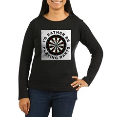 DARTBOARD/DARTS Women's Long Sleeve Dark T-Shirt