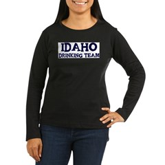 Idaho drinking team Women's Long Sleeve Dark T-Shirt