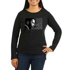 Obama - Hope Over Division - Grey Women's Long Sleeve Dark T-Shirt