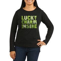 Lucky Charm Inside Women's Long Sleeve Dark T-Shirt