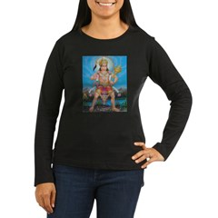 Jai Hanuman Women's Long Sleeve Dark T-Shirt