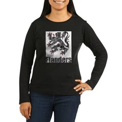 Vintage Flanders Women's Long Sleeve Dark T-Shirt