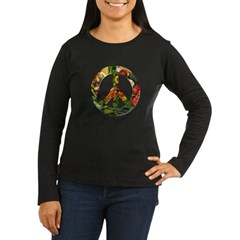 Peace Organic Vegetables Women's Long Sleeve Dark T-Shirt