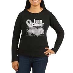 Daughter Lung Cancer Women's Long Sleeve Dark T-Shirt