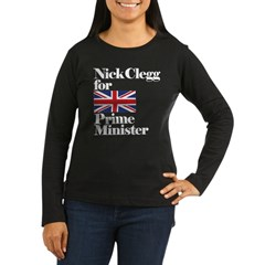 Nick Clegg for Prime Minister Women's Long Sleeve Dark T-Shirt
