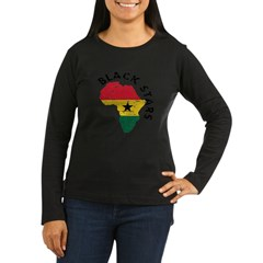 Ghana Black stars Women's Long Sleeve Dark T-Shirt