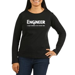Engineer Zombie Fighter Women's Long Sleeve Dark T-Shirt