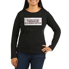 The Hardest Part of a Zombie Women's Long Sleeve Dark T-Shirt