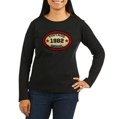 Birthday Vintage Model Year Women's Long Sleeve Dark T-Shirt