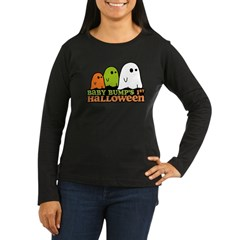 Baby Bump's 1st Halloween Women's Long Sleeve Dark T-Shirt