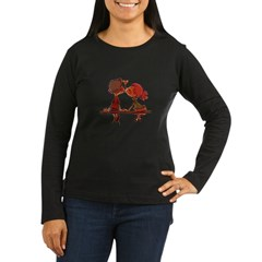 Kiss Women's Long Sleeve Dark T-Shirt