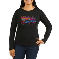 Runner Jargon Women's Sports T-Shirt Women's Long Sleeve Dark T-Shirt