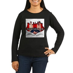 NuYoRicaN Women's Long Sleeve Dark T-Shirt