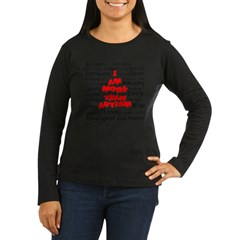 I am more than Autism Women's Long Sleeve Dark T-Shirt