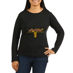 Pull Out To Eject Women's Long Sleeve Dark T-Shirt