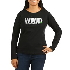 WWJackDo Women's Long Sleeve Dark T-Shirt